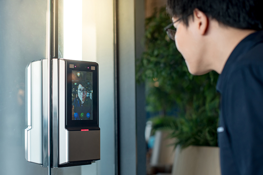 Authentication By Facial Recognition Concept. Biometric Admittan